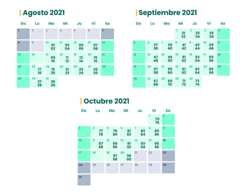 Calendario declaración de renta